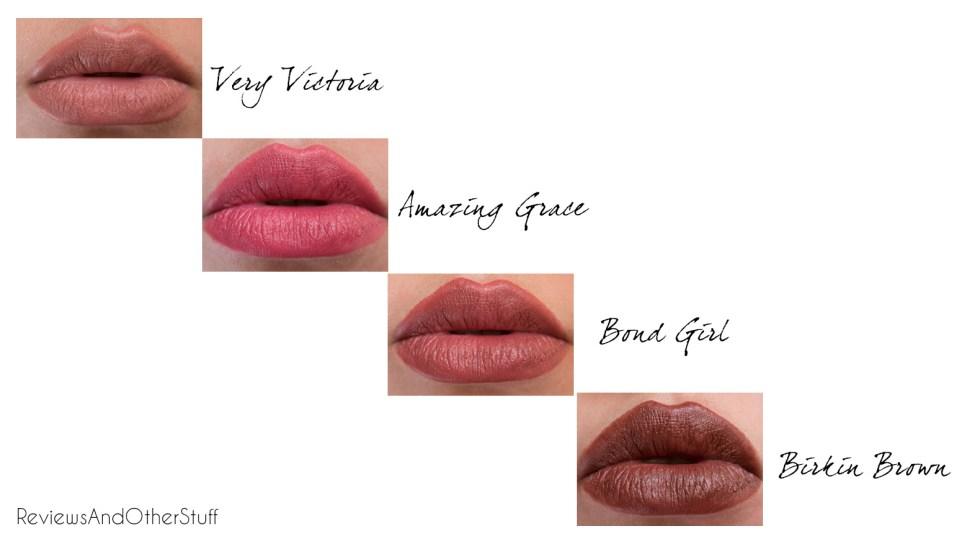charlotte tilbury matte revolution lipstick lips swatches