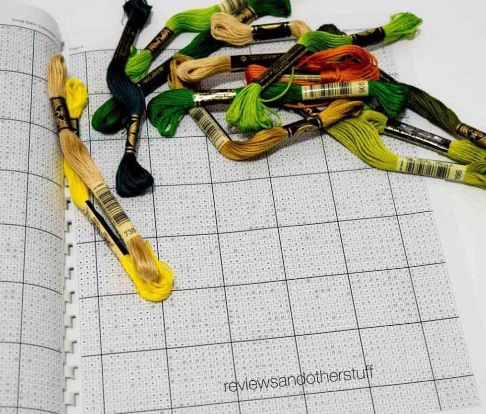 cross stitch patten skeins graphs