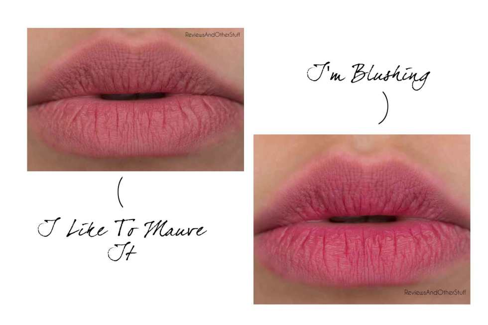 maybelline colorblur i'm blushing and i like to mauve it swatches