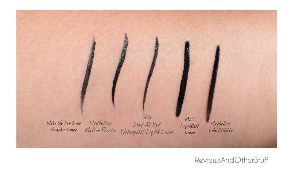 best liquid eyeliner swatches