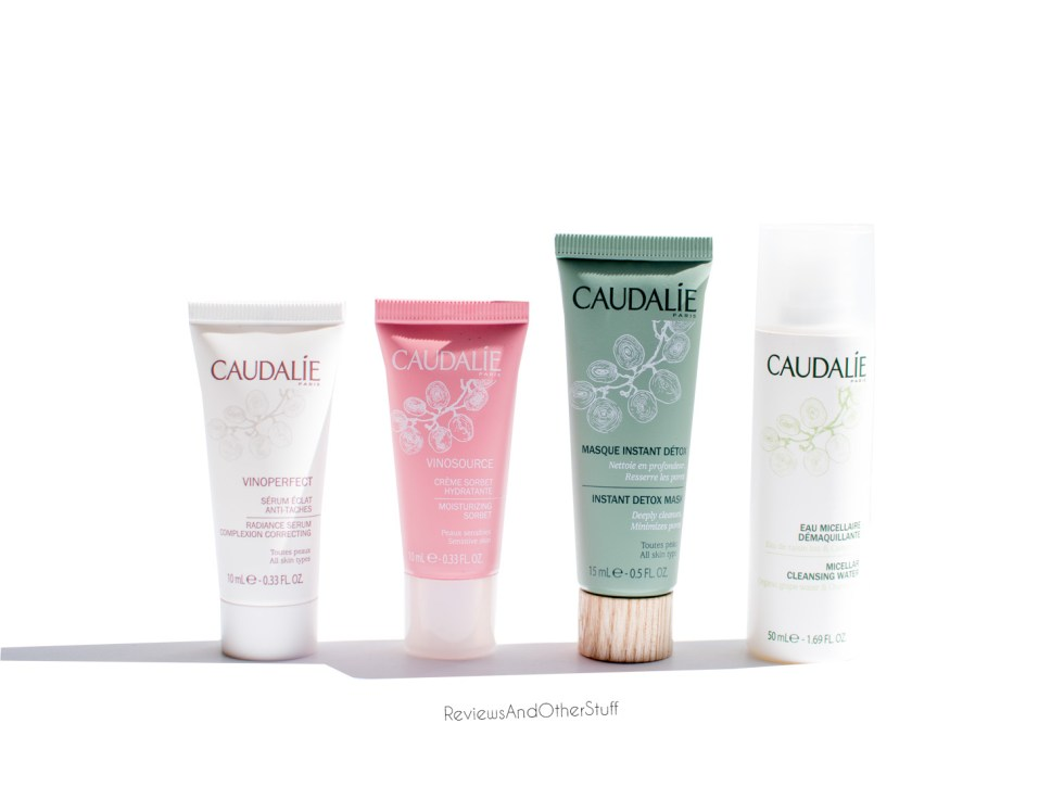 caudalie micellar water vinoperfect serum vinosource moisturizing sorbet instant detox mask review