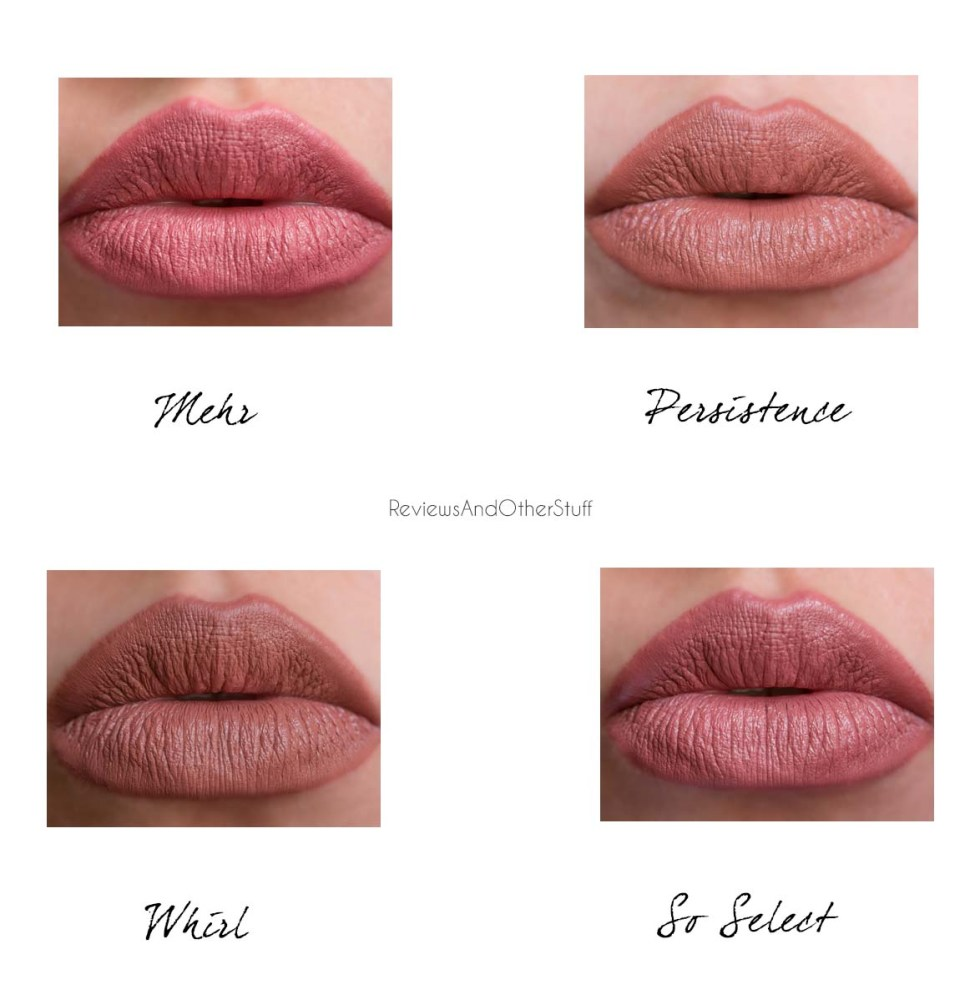 mac matte lipsticks in mehr so select persistence and whirl