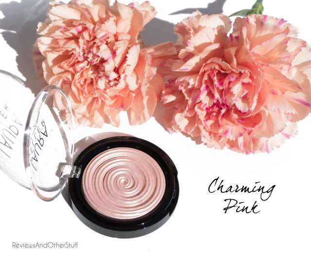 laura geller baked gelato swirl illuminator in charming pink review