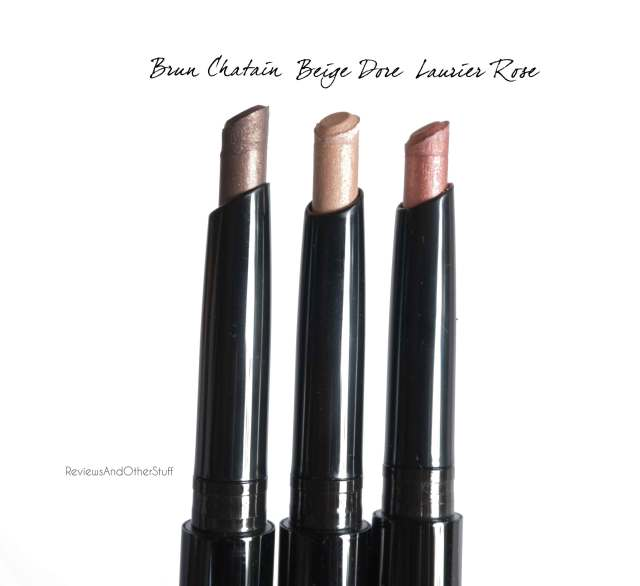 chanel stylo eyeshadow brun chatain beige dore laurier rose