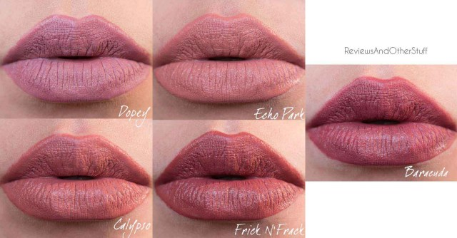 colourpop ultra satin lipstick swatches