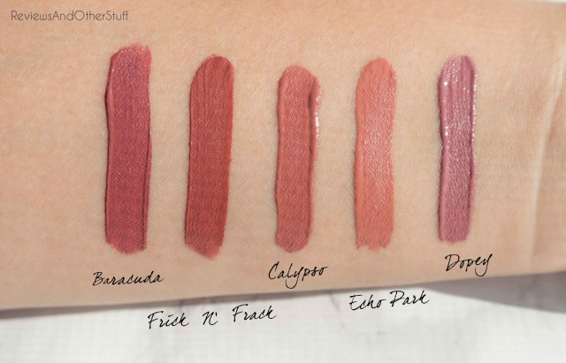 colourpop satin lip swatches photos review
