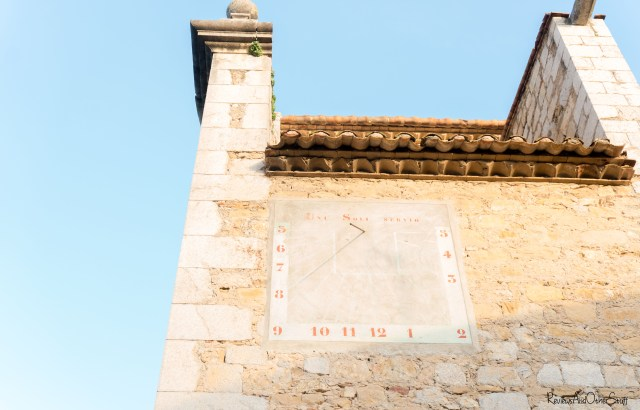 ulla girona spain Catholic Church sundial