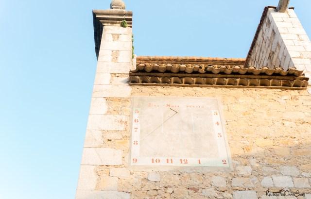 ulla girona spain Catholic Church sundial