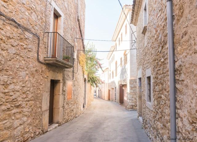 ulla girona catalonia spain streets