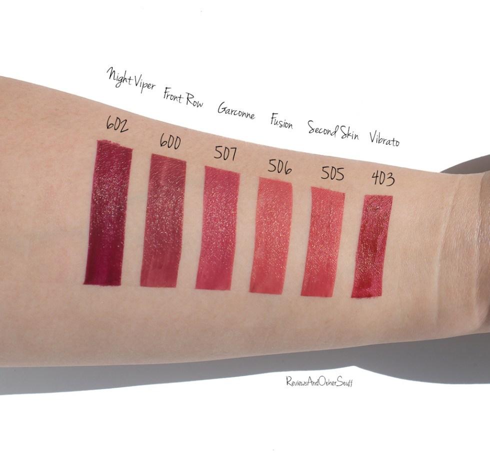 giorgio Armani lip magnet lipsticks swatches