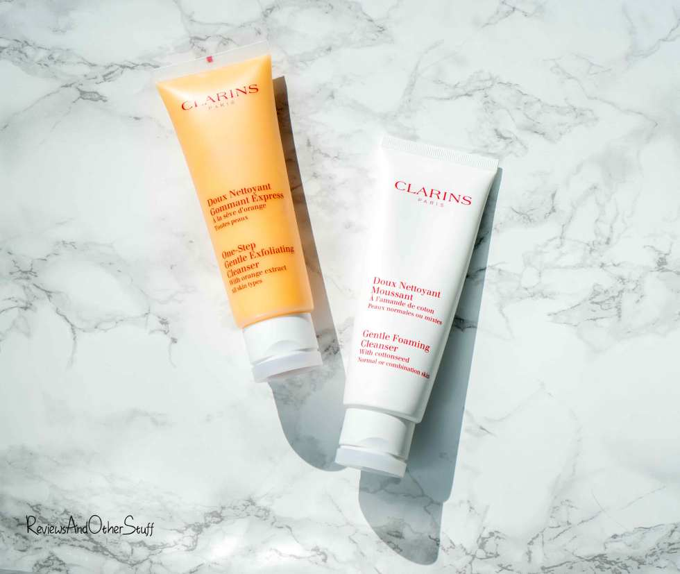 Clarins One-Step Gentle Exfoliating Facial Cleanser & Gentle Foaming Cleanser Review