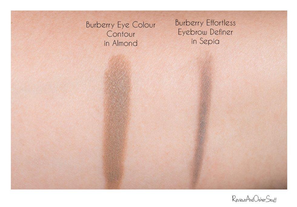 Burberry Effortless Eyebrow Definer Sepia & Eye Colour Contour Almond Review