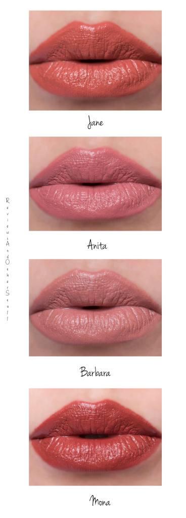 NARS Audacious Lipstick lip swatches