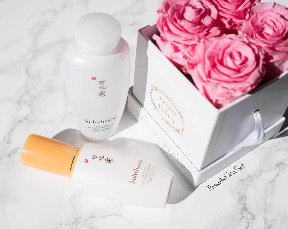 Sulwhasoo First Care Activating Serum & Snowise Brightening Water Review