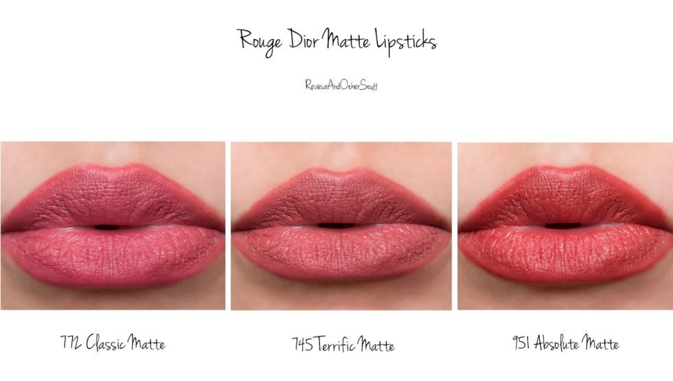 Dior Rouge Dior Matte Lipsticks swatches