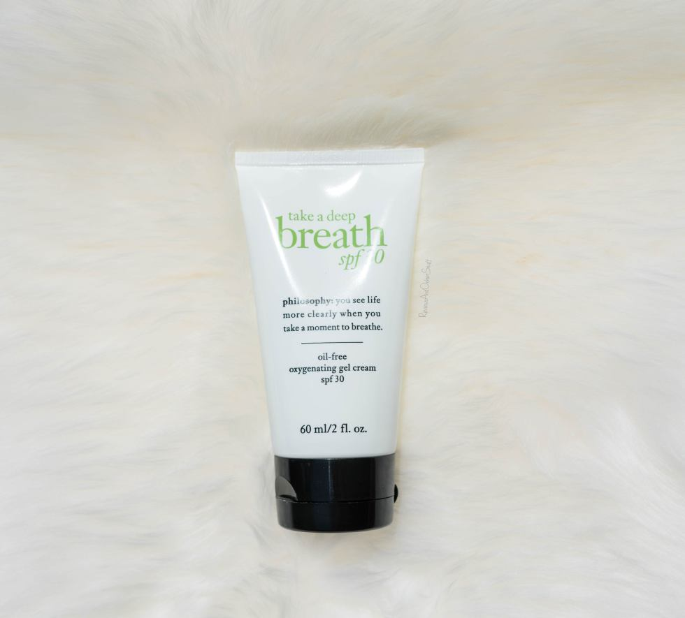 Philosophy Take a Deep Breath Oil-Free Oxygenating Gel Cream Spf 30 Review