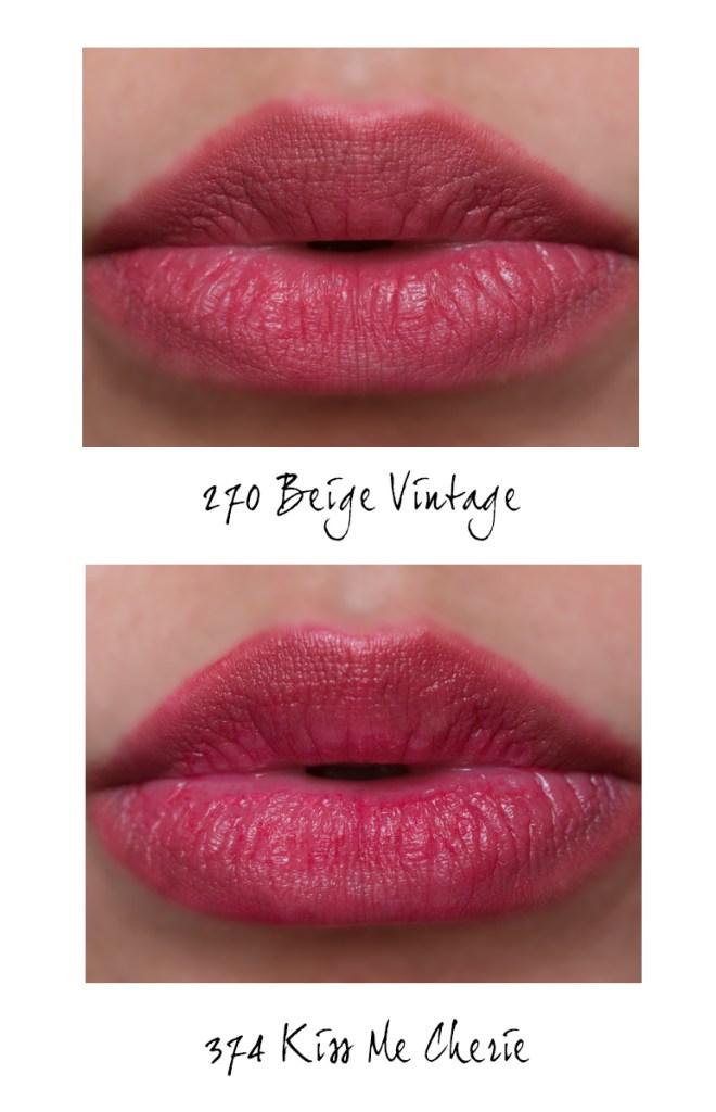 lancome matte shaker 270 beige vintage 374 kiss me cherie