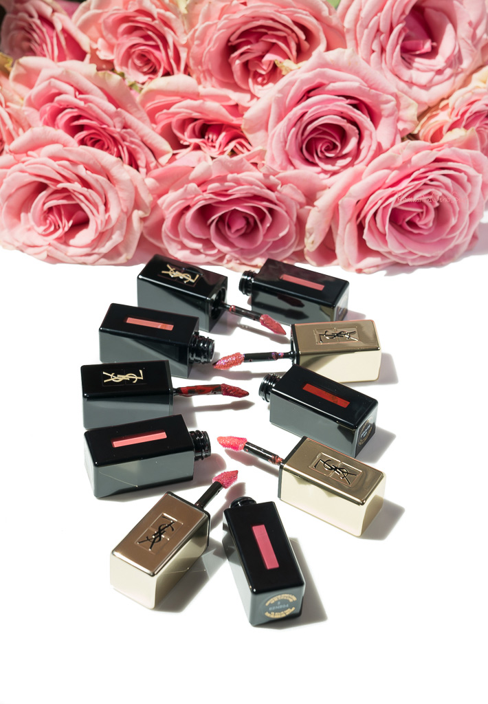 ysl vernis a levres glossy stain, glossy stain rebel nudes, vinyl cream lip stain swatches