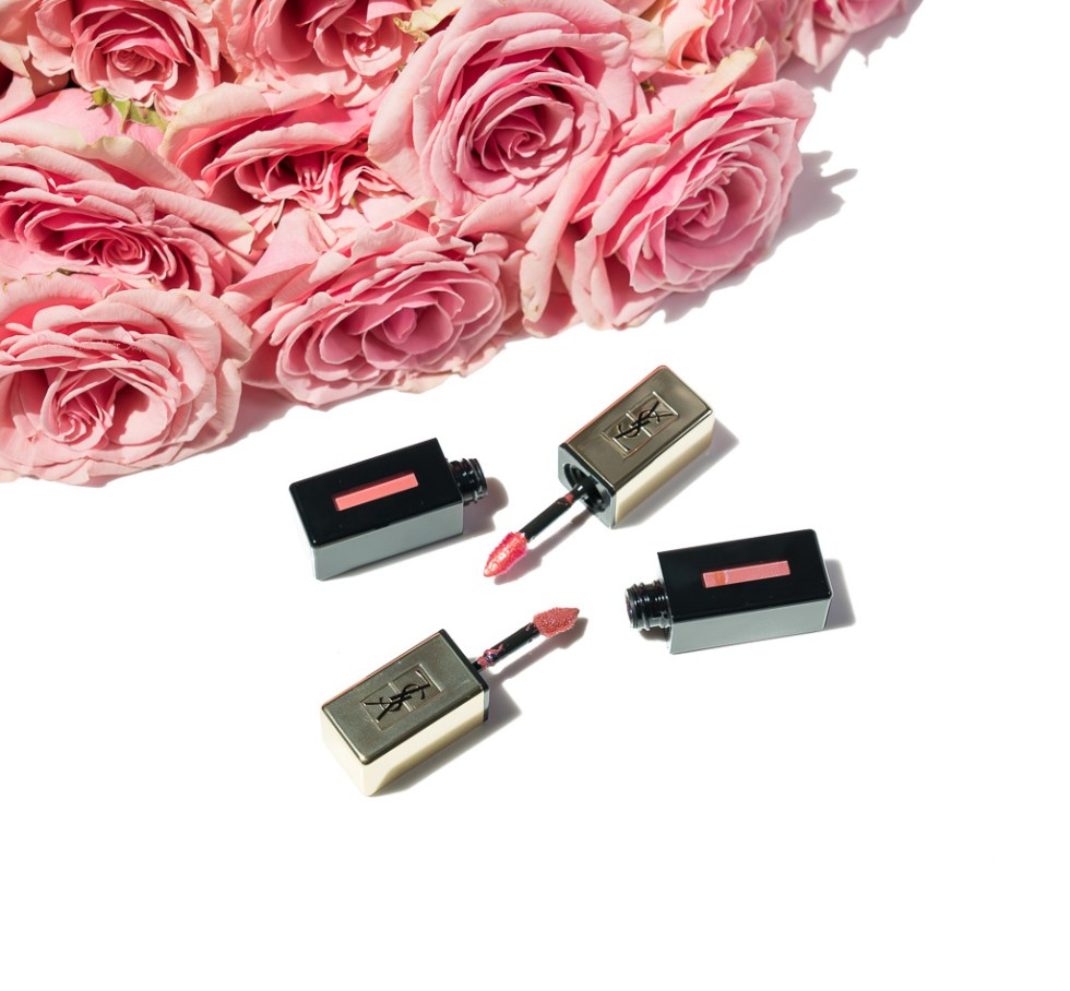 ysl vernis a levres glossy stain rebel nudes 105 coral hold up 107 naughty mauve