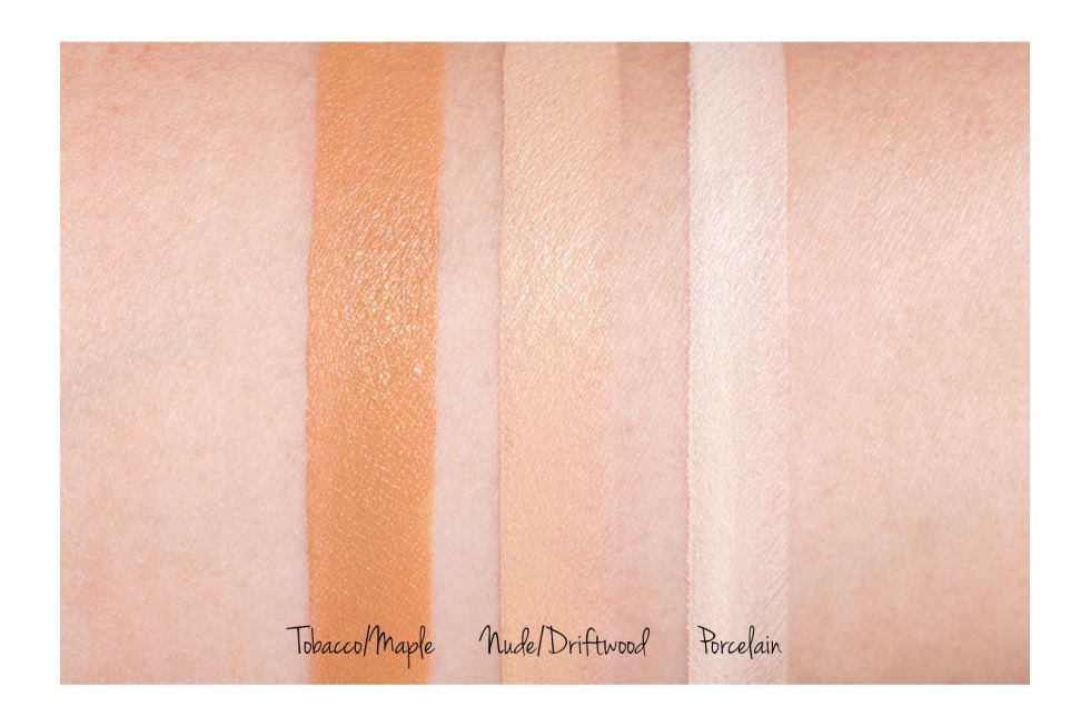 Becca Ultimate Coverage Foundation swatches