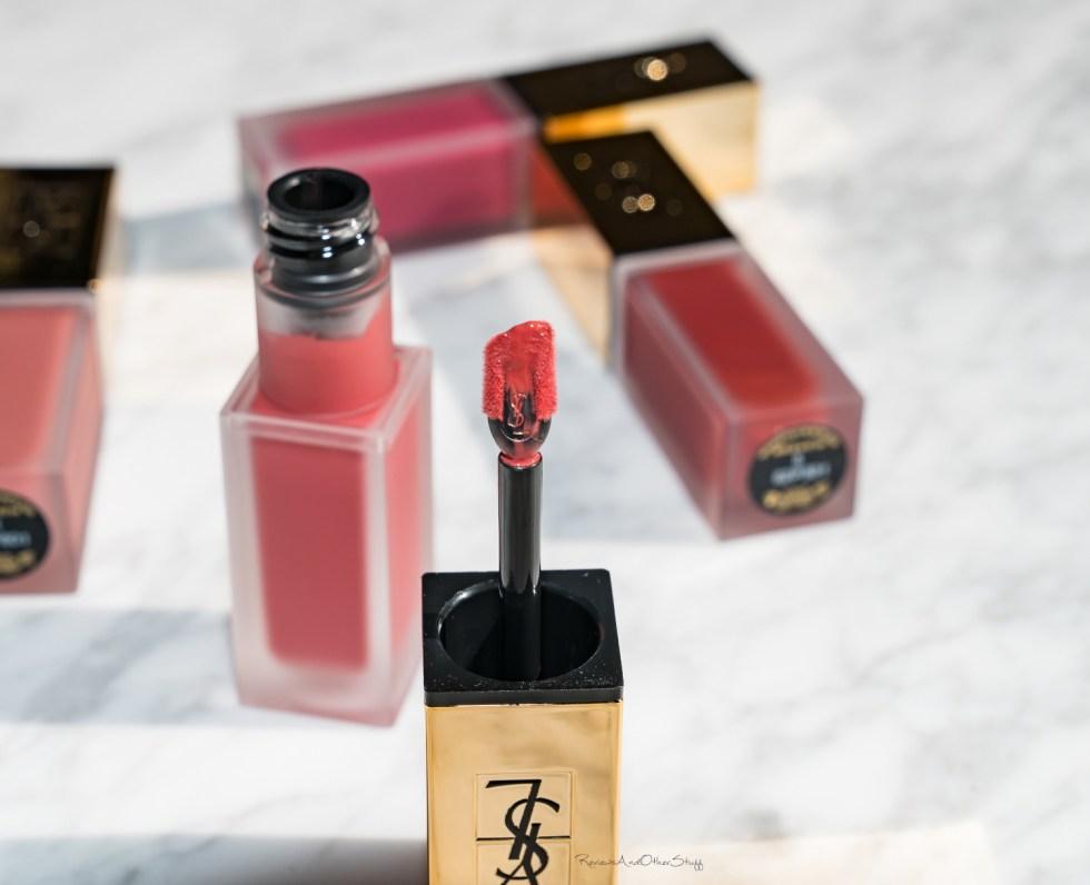 YSL Tatouage Couture Liquid Matte Lip Stain swatches