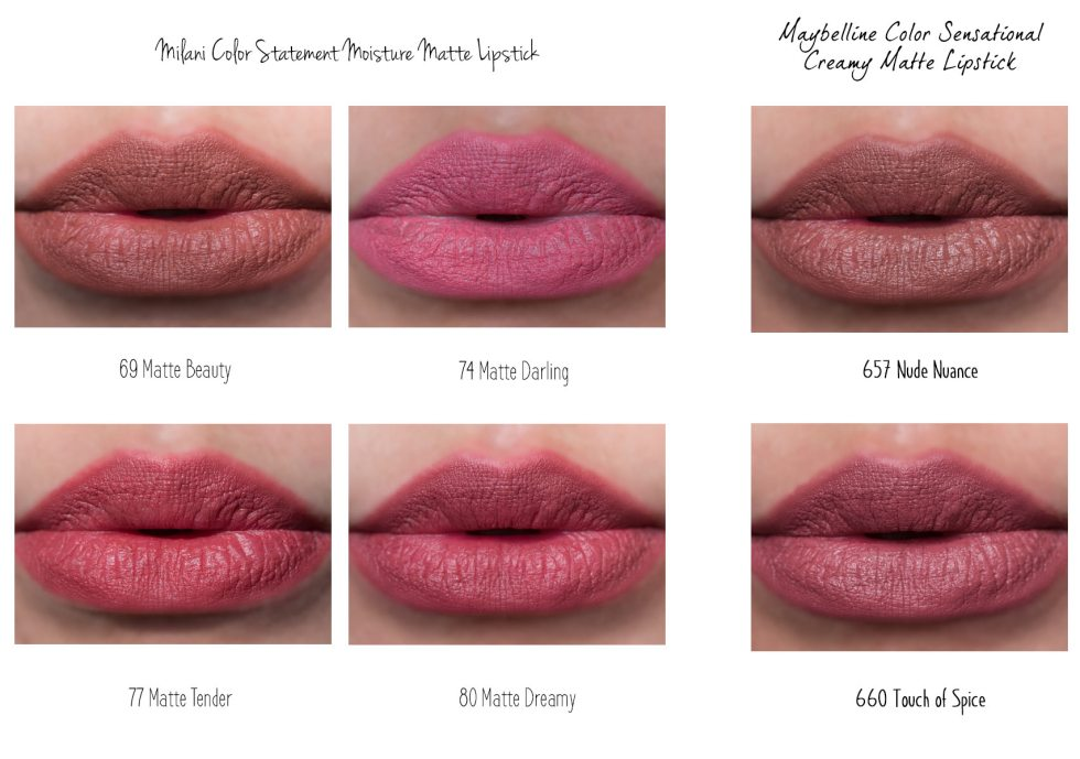 Maybelline Color Sensational Matte Lipstick swatch
