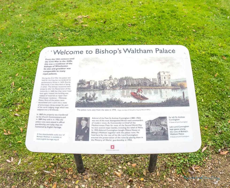 ruins of bishops waltham
