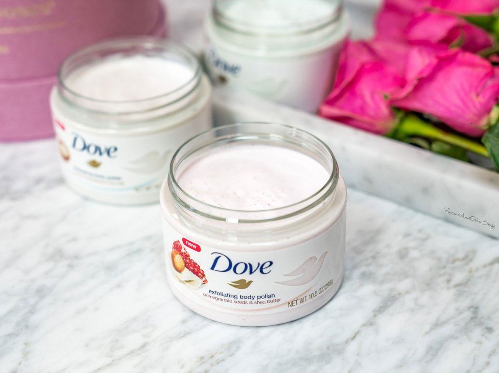 dove pomegranate seeds and shea butter body scrub review