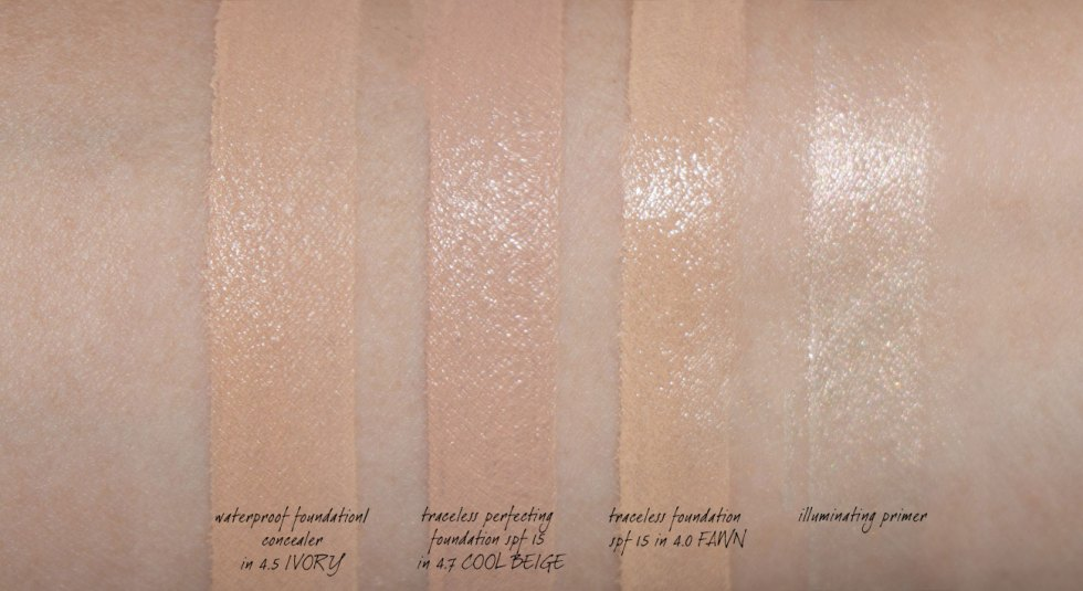 tom ford foundations cool beige, fawn, ivory swatches