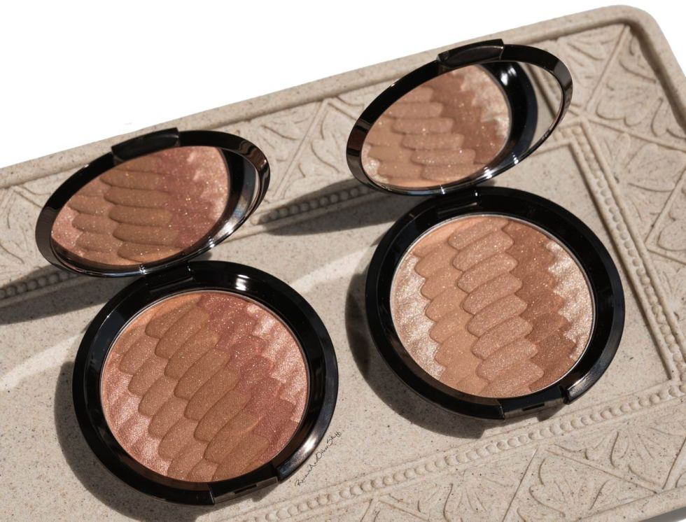 becca sunrise waves and sunset waves bronzers review