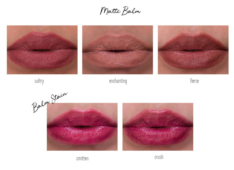 revlon matte balm and balm stain lip swatches
