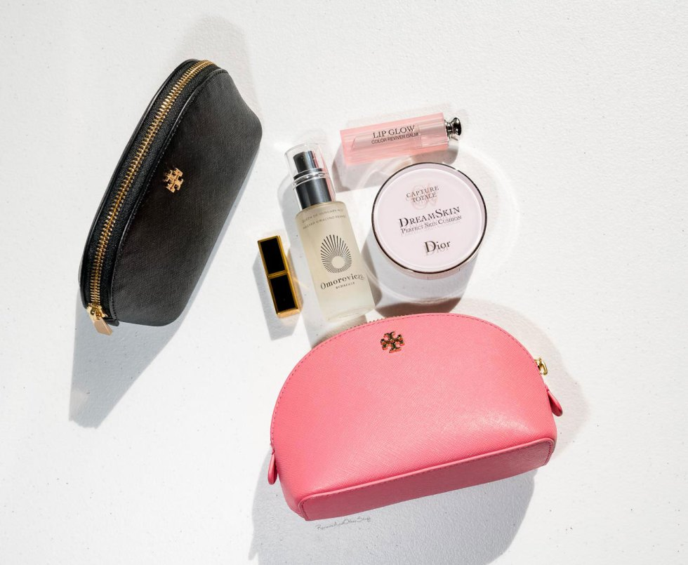 Tory Burch Robinson Small Makeup Bags