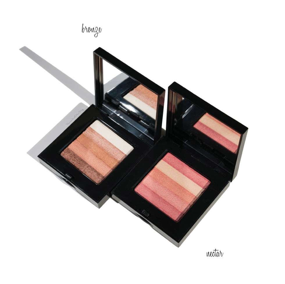bobbi brown shimmer brick in bronze and nectar review
