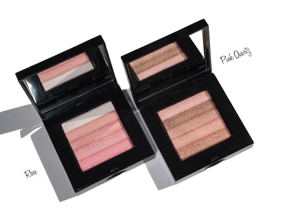 bobbi brown shimmer brick in rose and pink quartz swatch