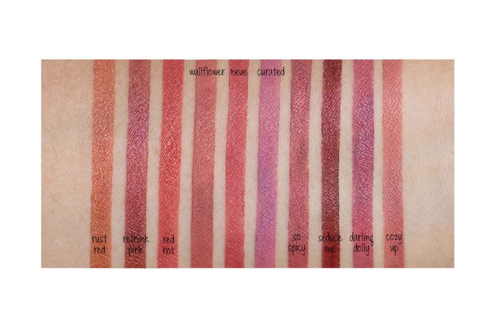 Sephora Collection Lip Powder, lorac hi-res lip & cheek powder swatches