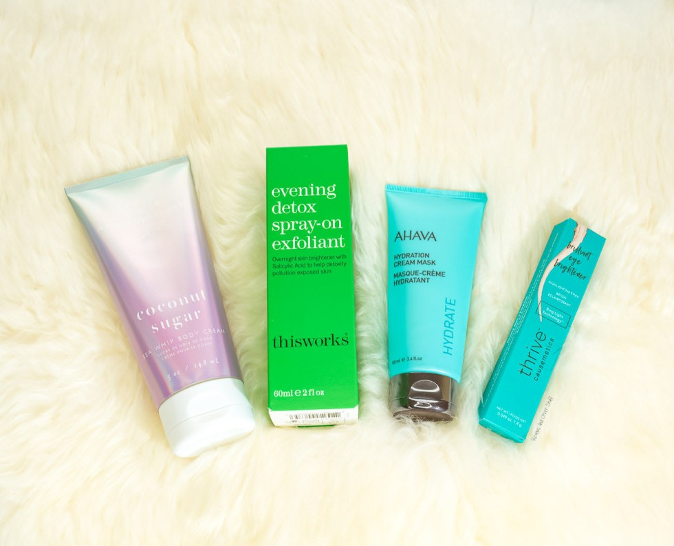 Anthropologie x Mer-Sea & Co. Sea Whip Body Cream in Coconut Sugar, Ahava Hydration Cream Mask