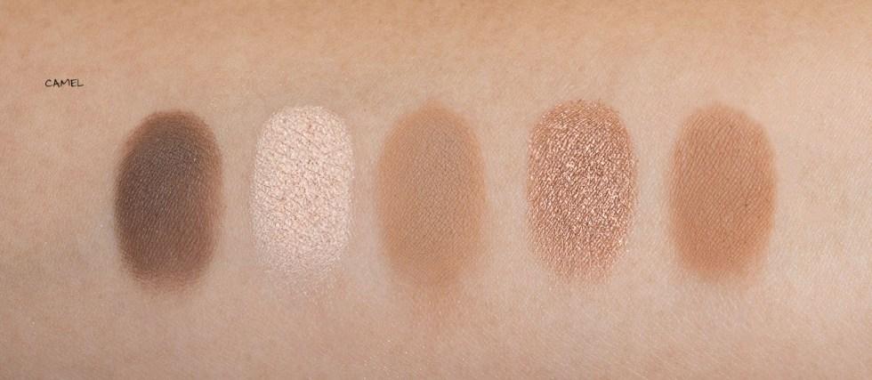 Natasha Denona Eyeshadow Palette 5 in Camel swatch