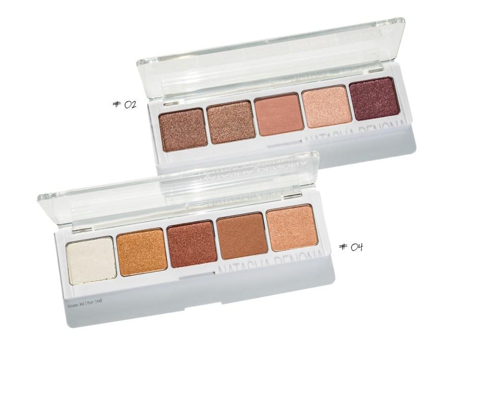 Natasha Denona Eyeshadow Palette 5 in #02 and #04