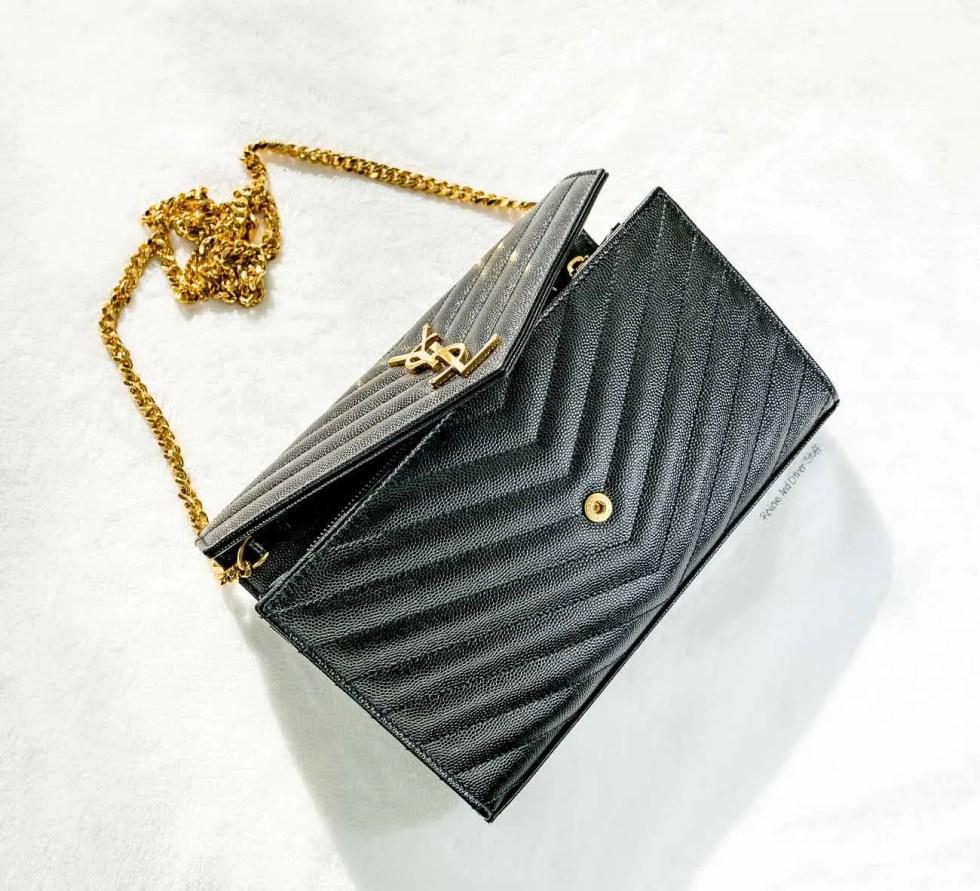 what's inside my bag, YSL (Saint Laurent) Monogram Chain Wallet