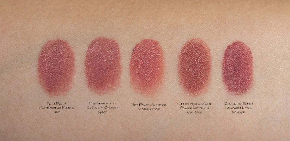 fenty thicc lipstick swatch