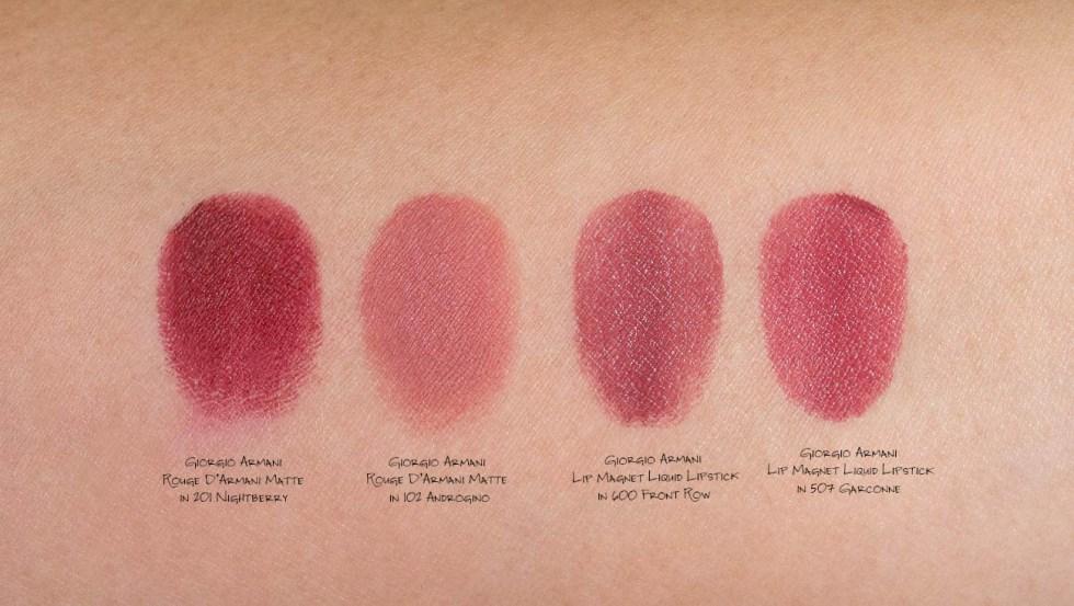 armani lipsticks swatch