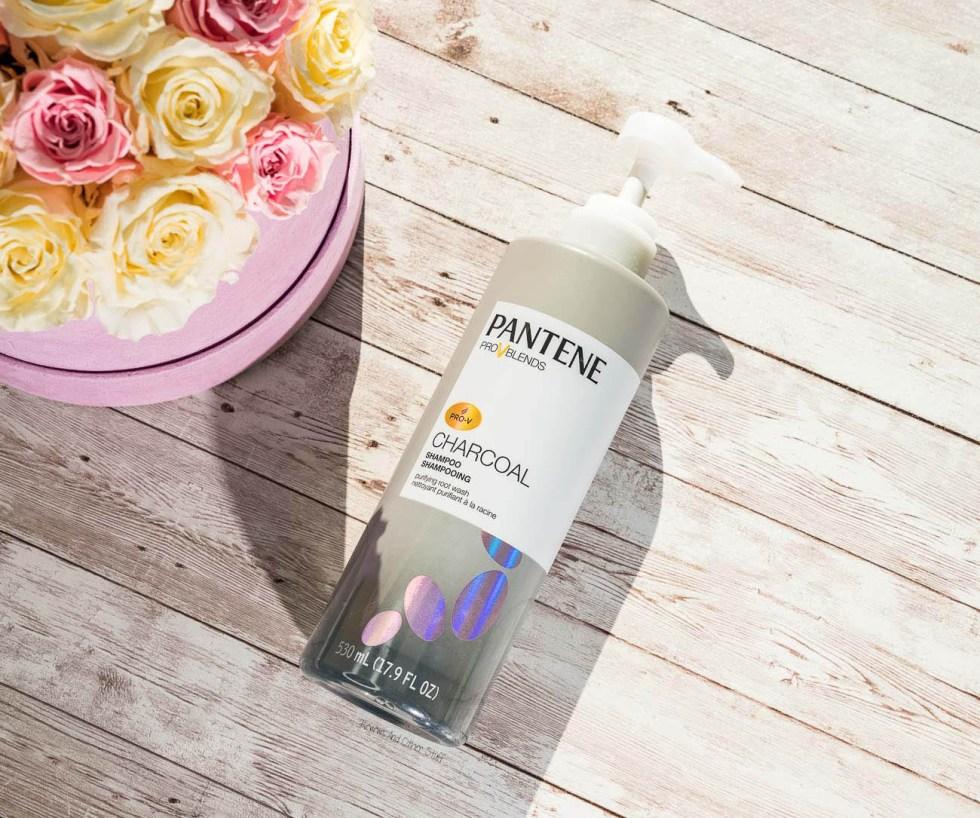 Pantene Charcoal Shampoo Purifying Root Wash