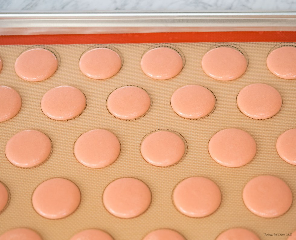 drying french macarons batter