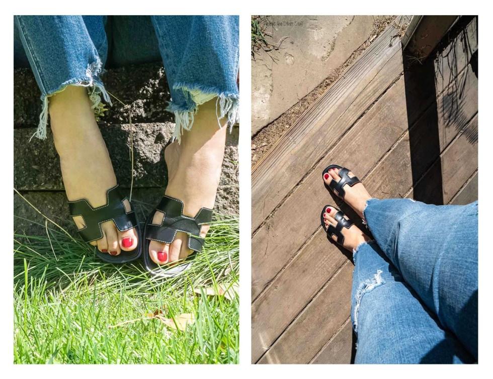hermes oran sandals review