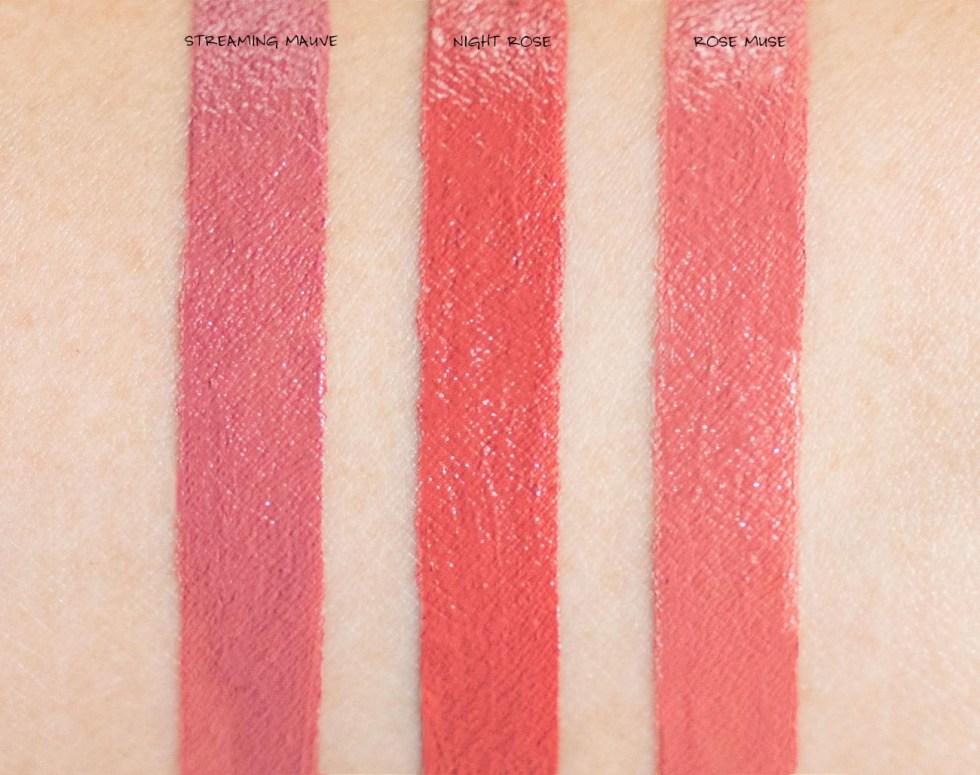 Shiseido VisionAiry Gel Lipstick swatches