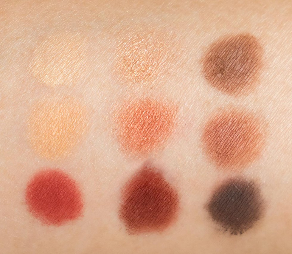 dior backstage eyeshadow palette amber neutrals swatches