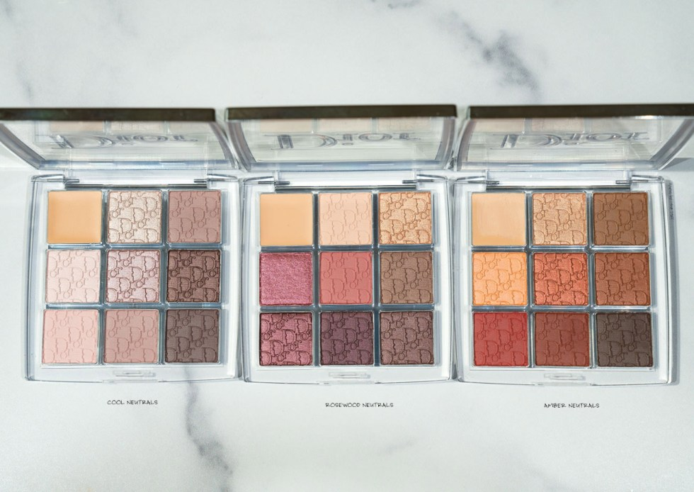 dior backstage eyeshadow palette amber neutrals