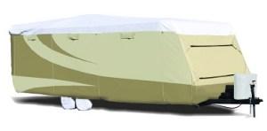 """ADCO 34846 Designer Series Gray/White 31' 7"""" – 34' DuPont Tyvek Travel Trailer Cover"""