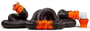 Camco RhinoFLEX 20ft RV Sewer Hose Kit, Includes Swivel Fitting