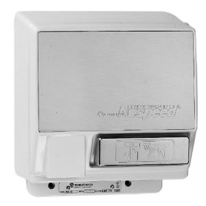 World Dryer Airspeed WA126-201 Brushed Chrome Push Button Hand Dryer